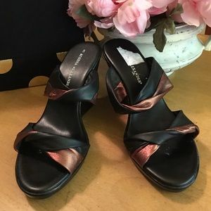 Athena Alexander Bronze Black Wedge Sandals new 8
